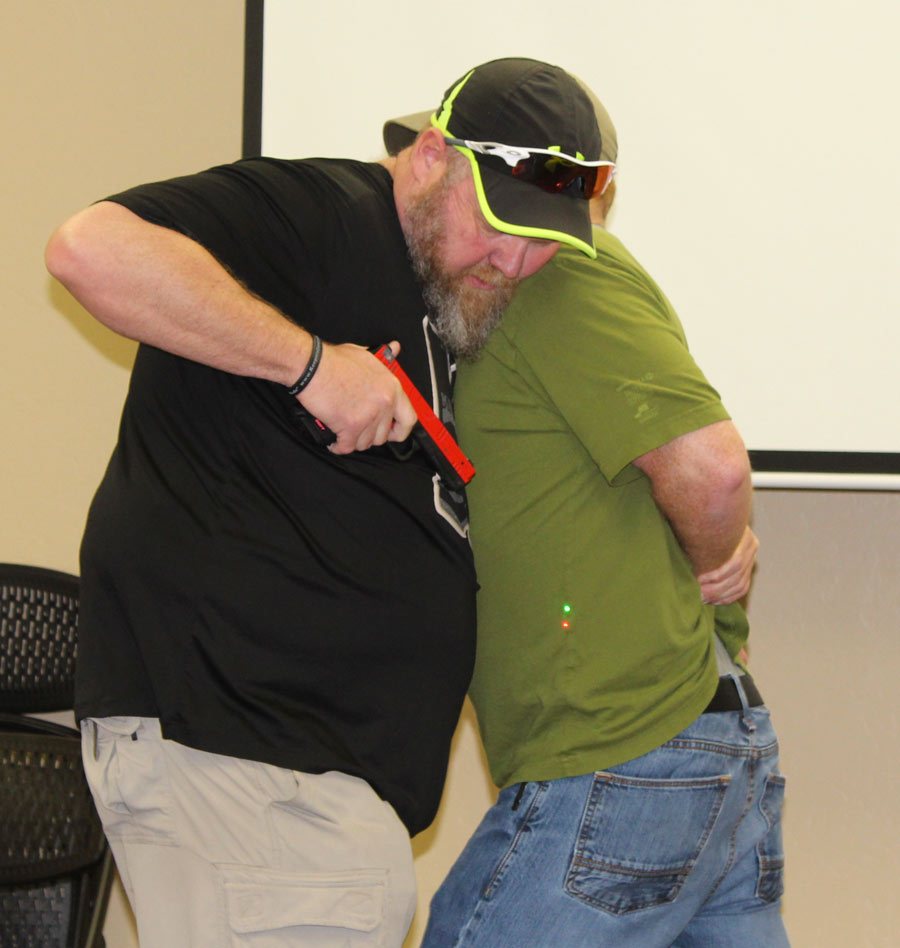 This is much more than an AIWB class. A SIRT training laser pointer was used to simulate a handgun.